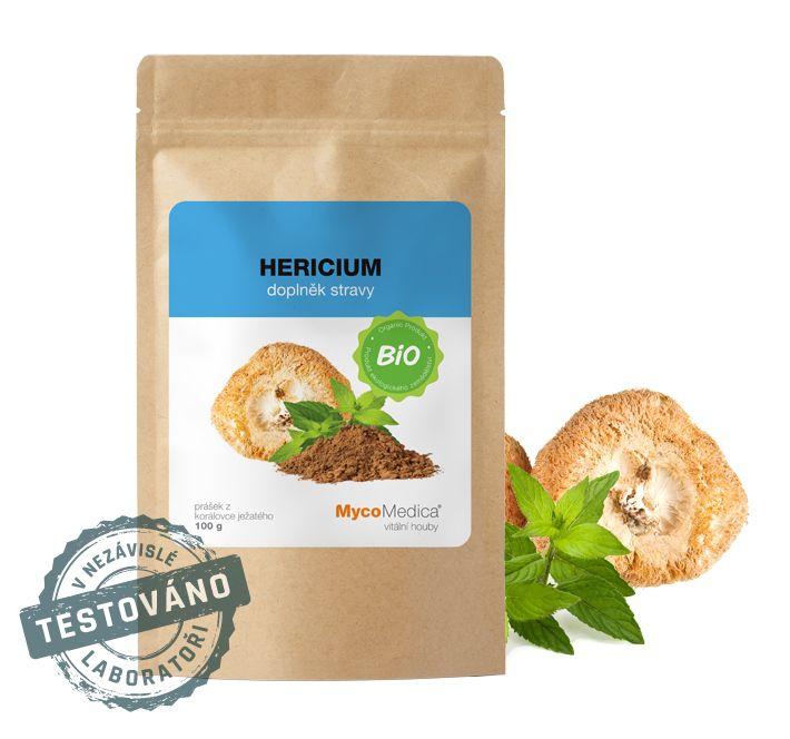Hericium Bio prášek (korálovec ježatý) MycoMedica