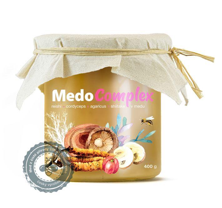 MedoComplex - reishi, cordyceps, agaricus, shiitake a acerola v medu MycoMedica