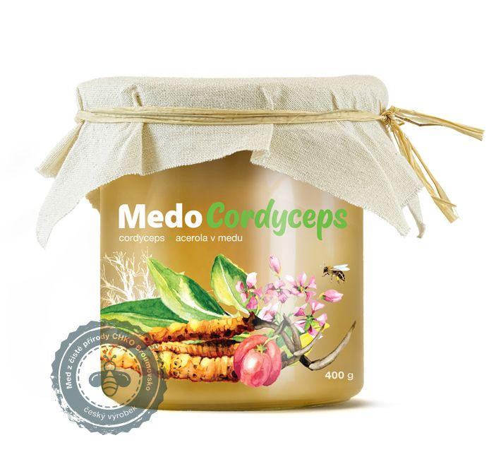 MedoCordyceps - cordyceps a acerola v medu MycoMedica