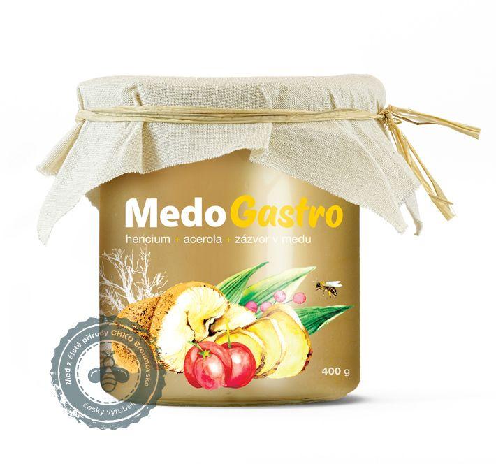 MedoGastro - hericium, acerola a zázvor v medu MycoMedica