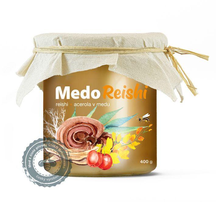MedoReishi - reishi a acerola v medu MycoMedica