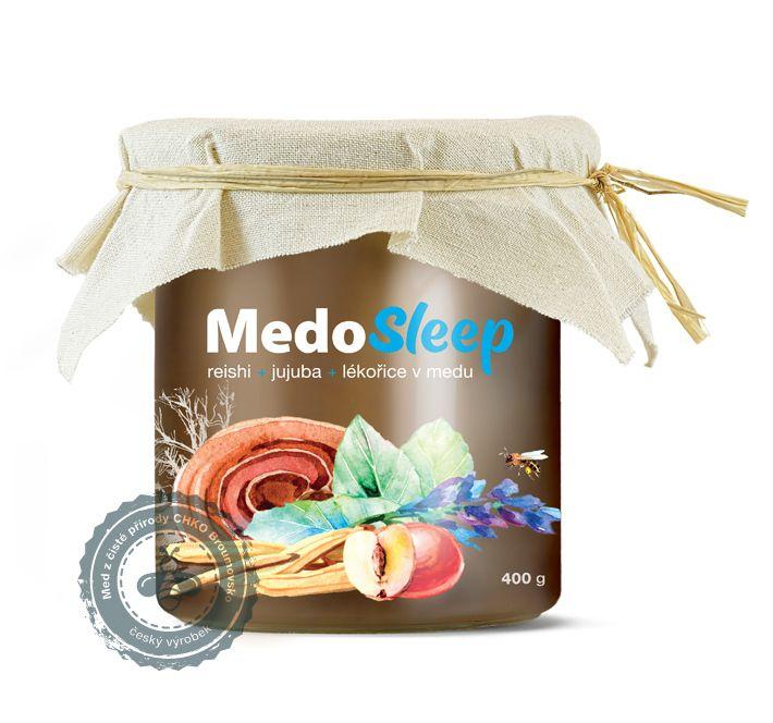 MedoSleep - reishi, jujuba a lékořice v medu MycoMedica